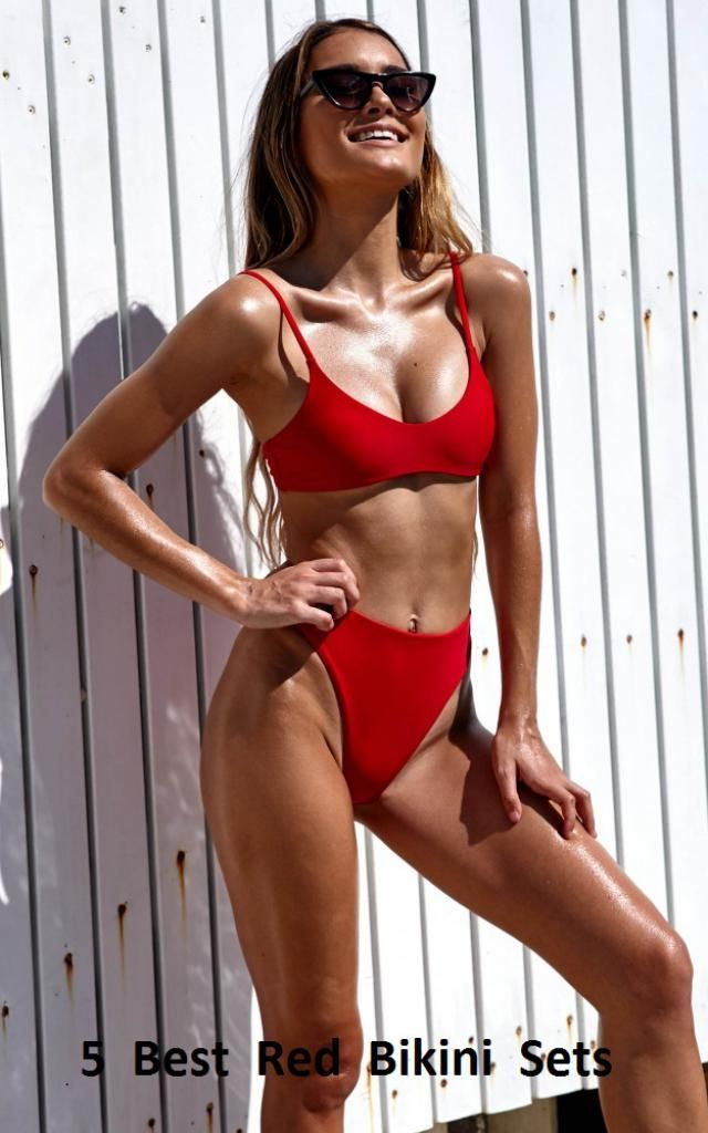 This year we are obsessed with daring colors and this red bikini will certainly turn your head. With red material and f…