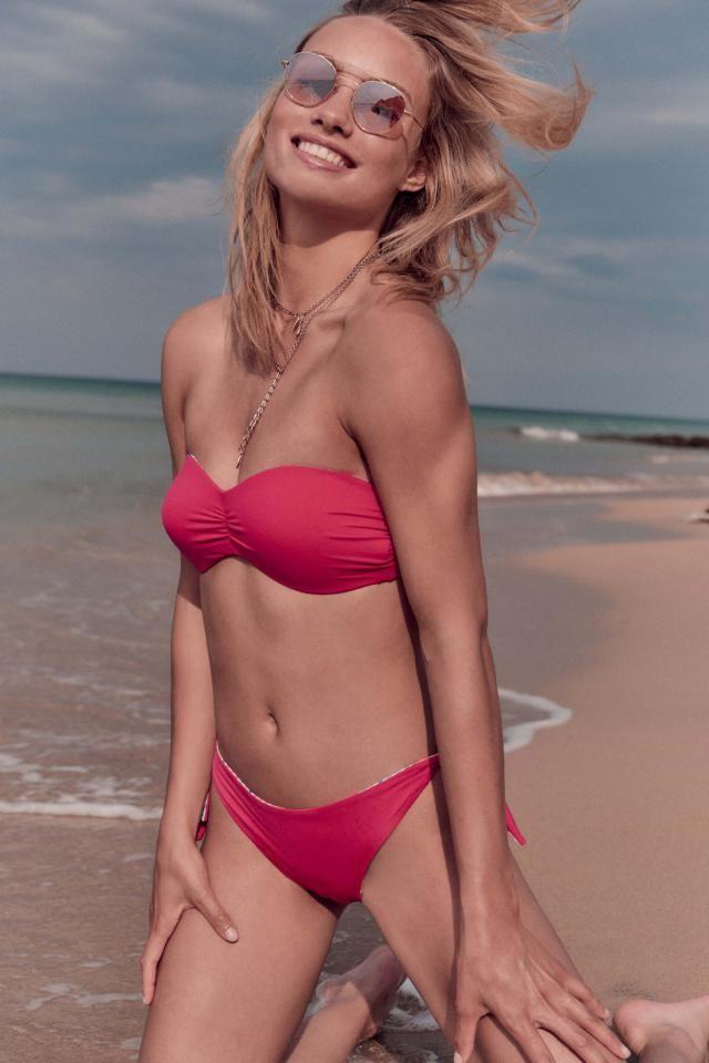 High Cut Bandeau Thong Bathing Suit  Beautiful bandeau  bikini set ! Summer is coming, time to rebuild your closet w…