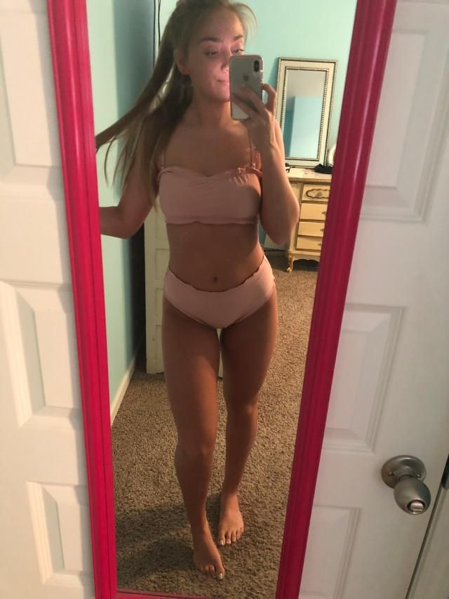 This bikini is very cute! I have bigger hips and a smaller waist and it fits pretty good! I purchased a Medium, but pr…