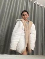 42 Off 2020 Hooded Open Front Lamb Wool Teddy Coat In