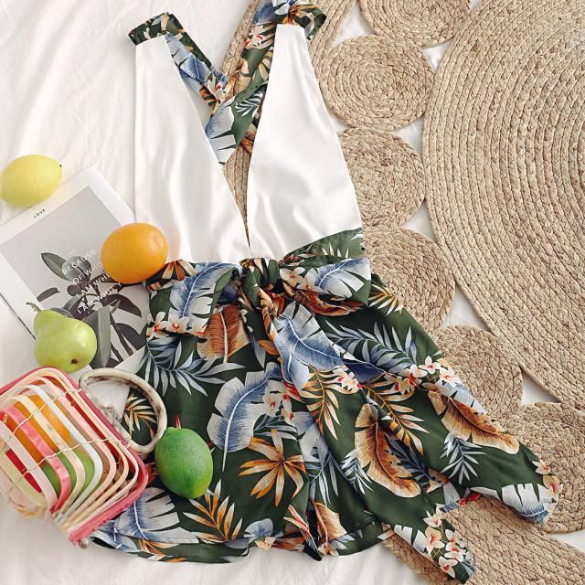 Obsessed with this tropical print summer dress!