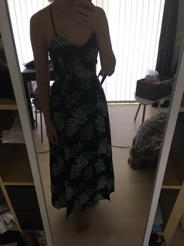 So pleased with this dress. The colors are beautiful and match the pictures, the material is really light, but I think…