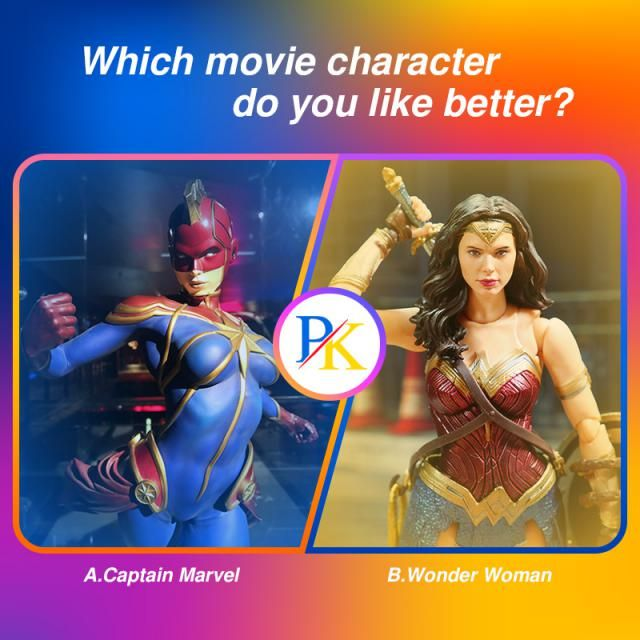 ☆Which movie character do you like better?☆ A.Captain Marvel B.Wonder Woman  Let us know your idea in the comment! …