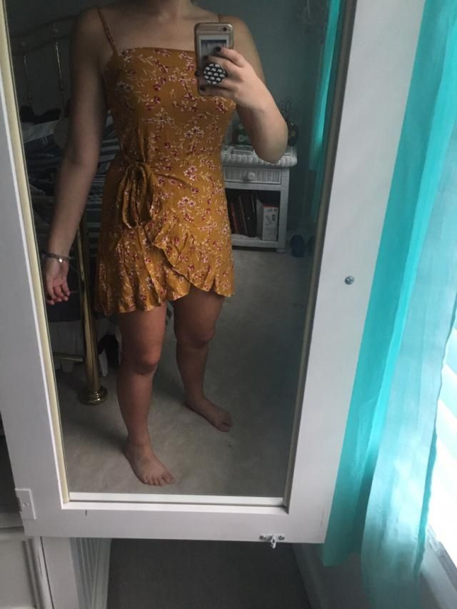 Oh my goodness I love this dress so much! It's so cute, light and flowy!! Can definitely hide a bloated stomach for su…