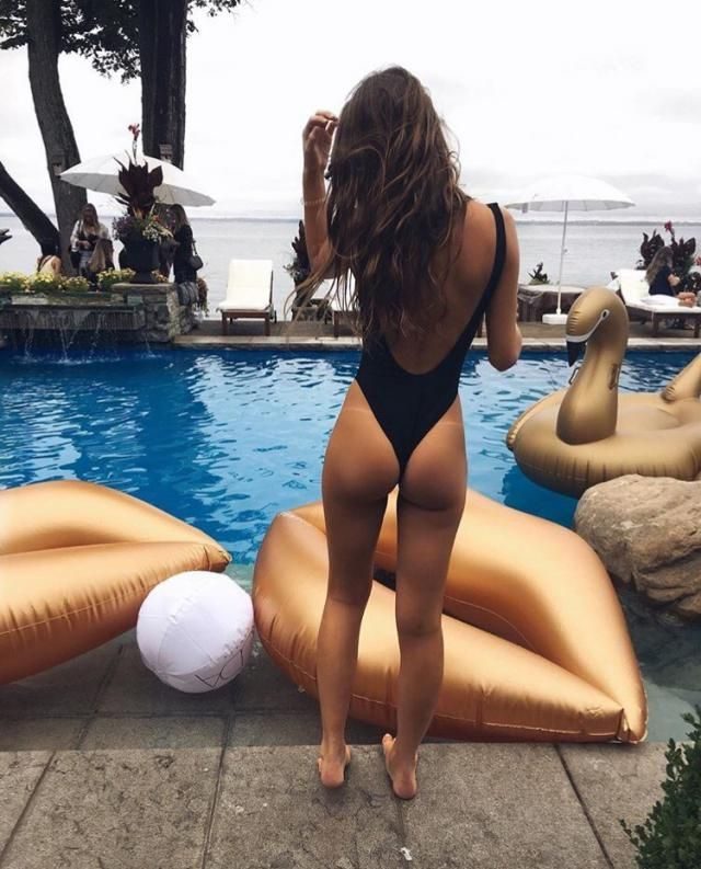 A swimsuit and pool party is always a good idea