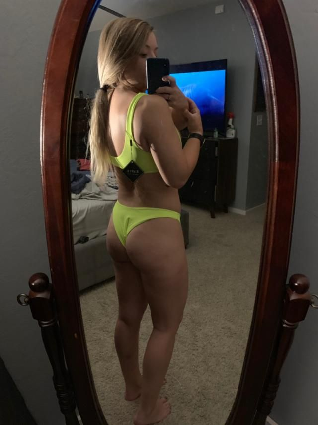 "I am 5'1"" and about 140 lbs with a 34D cup size. Medium tops are a little small on me but the bottoms fit perfect. Mat…"