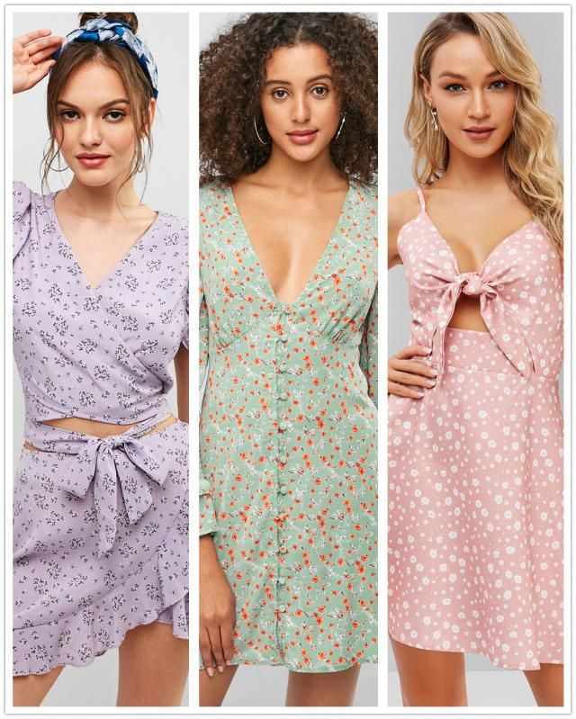 【Vote & Win】  Pastel + Floral = Perfect Summer Dress! Vote for your fave one and tell us the reason.  We will p…