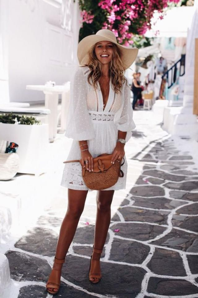 I personally love to wear white dresses in summer especially if I am going on a vacation