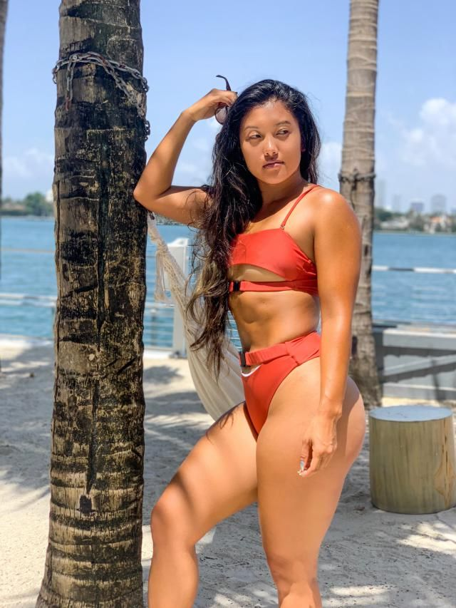 4097db5f2bb 22% OFF] [HOT] 2019 Spaghetti Straps Plunge Thong Bikini Set In ...