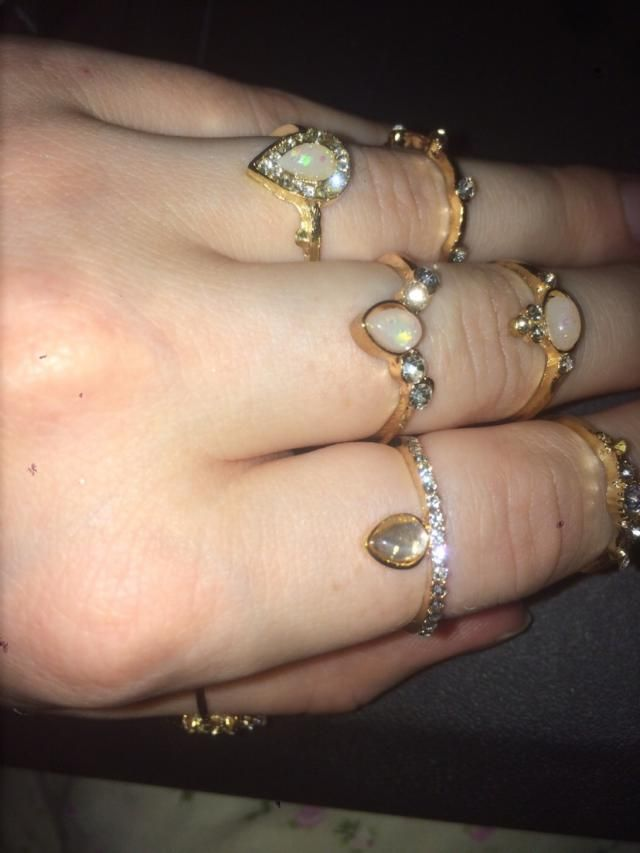 Photos taken with flash. I wanted something that glittered when it caught the light and these rings do that a little b…