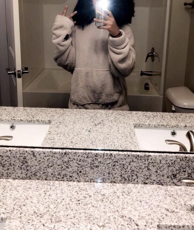 i wanted it really oversized so i got a large and it was really big on me which i liked. it's very soft and cozy and w…