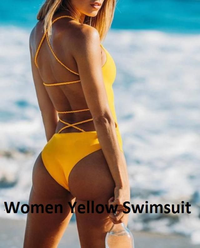 Yellow Womens  Swimsuits 