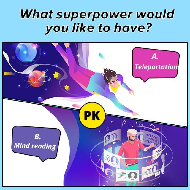 ❤What superpower would you like to have?❤ A.Teleportation B.Mind reading  Let us know your idea in the comment!  …