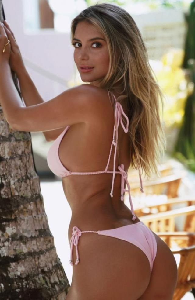 String Bikini Set  Pink