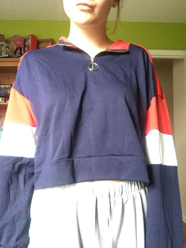 very soft and light, great material! sleeves usually aren't long enough for me and these are!! cropped but not very mu…