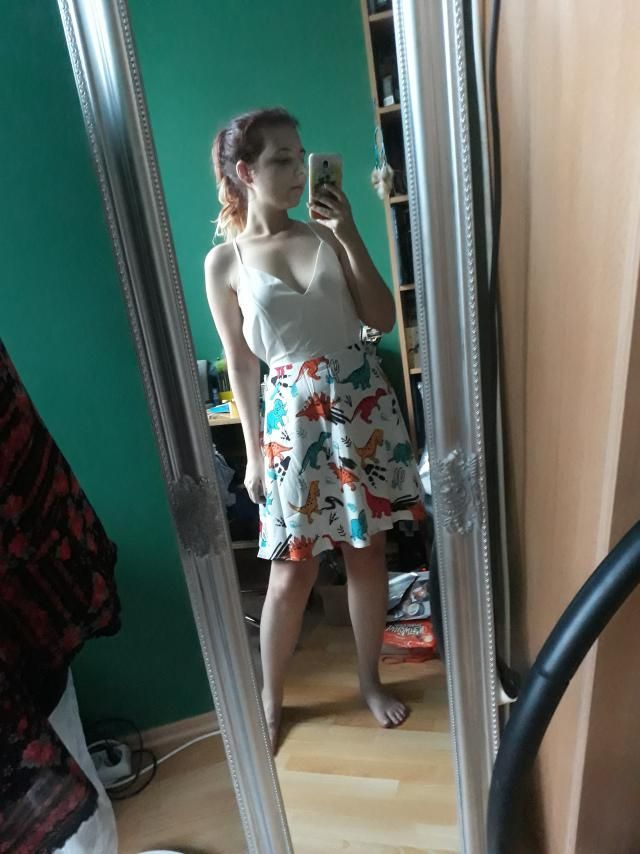Super cute I love the skirt part so much. To be honest I bought this piece for the dino print, and I am so happy that …