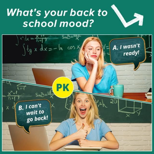 ❤What's your back to school mood?❤ A.I wasn't ready! B.I can't wait to go back!  Let us know your idea in the comment! …