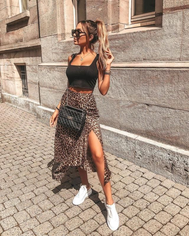 You can&;t go wrong with this beautiful leopard skirt it is so pretty