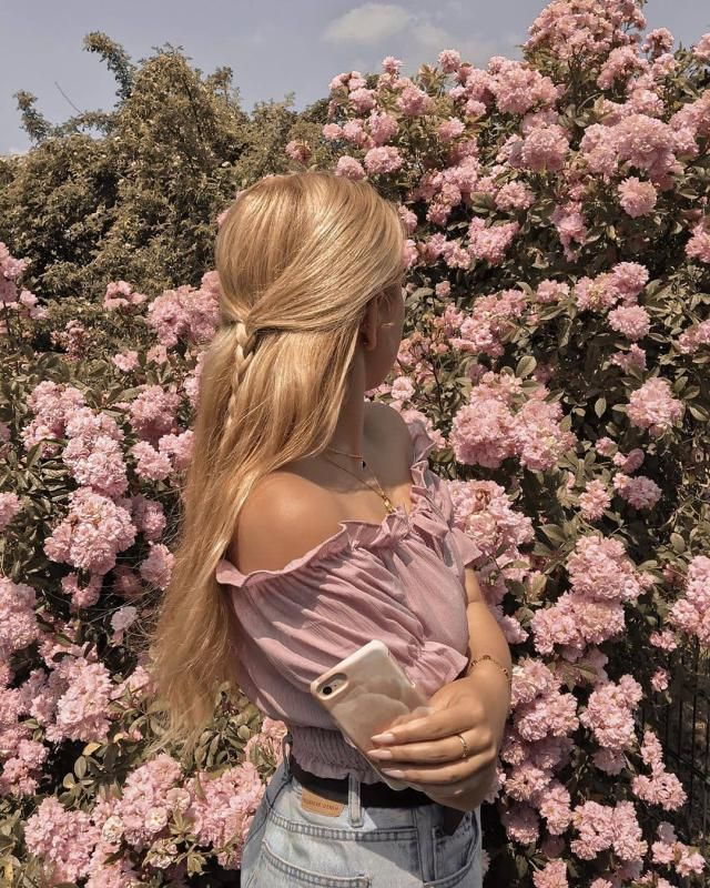 I&;m in love with this pink off shoulder top, it is girly and cute