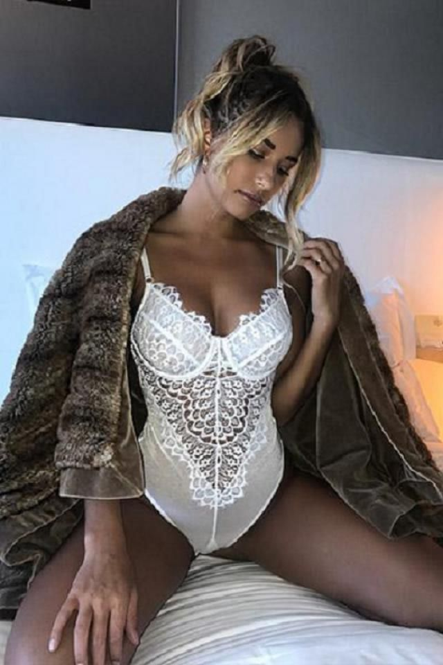 Lace Mesh Cami Snap Crotch Bodysuit   NEW in Zaful! Beautiful and sexy bodysuit .Come to Zaful, BUY HERE! Beautiful cl…