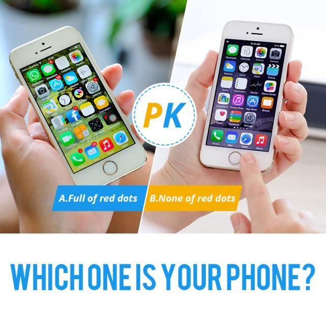 Which one is your phone? A.Full of red dots B.None of red dots  Let us know your idea in the comment!