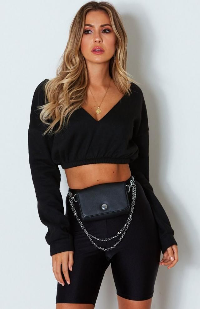 ZAFUL Crossover Ribbed Crop Top And Biker Shorts  Popular crop top and biker shorts  .Come to Zaful, BUY HERE! Beautif…