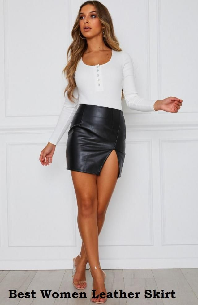 This is a very sexy leather look skirt that can have you looking like a catwalk queen! The front section of the skirt i…