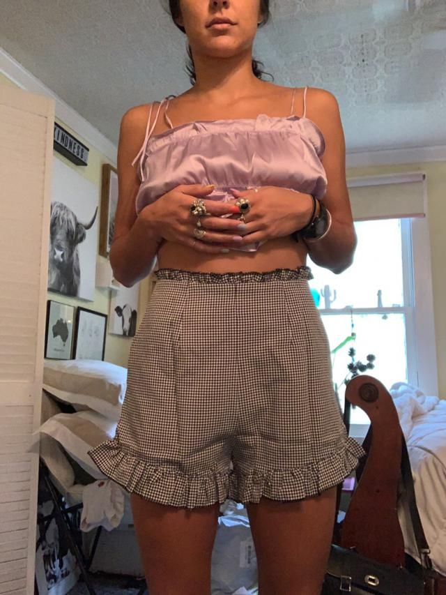 """These swallow me. I'm 5'5"""" 125lbs & small is so loose. Hopefully a wash and dry will shrink them so they c…"""
