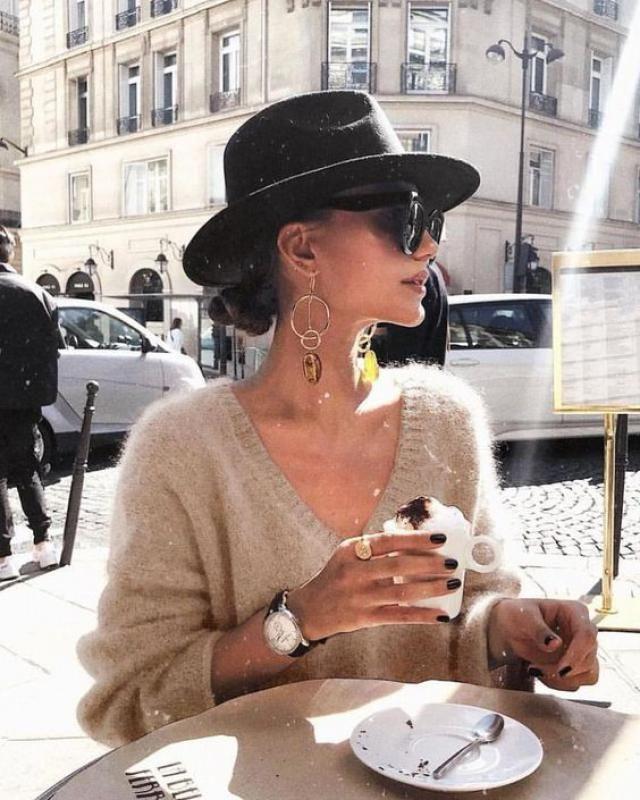 The sunglasses the coffee....