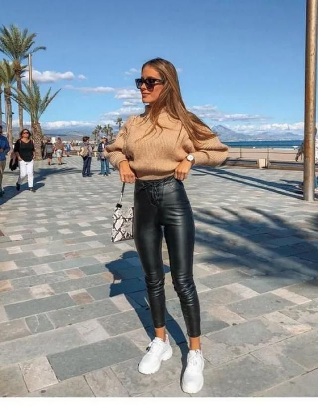 Simple Winter and white sneakers Outfits Ideas That Always Looks Fantastic