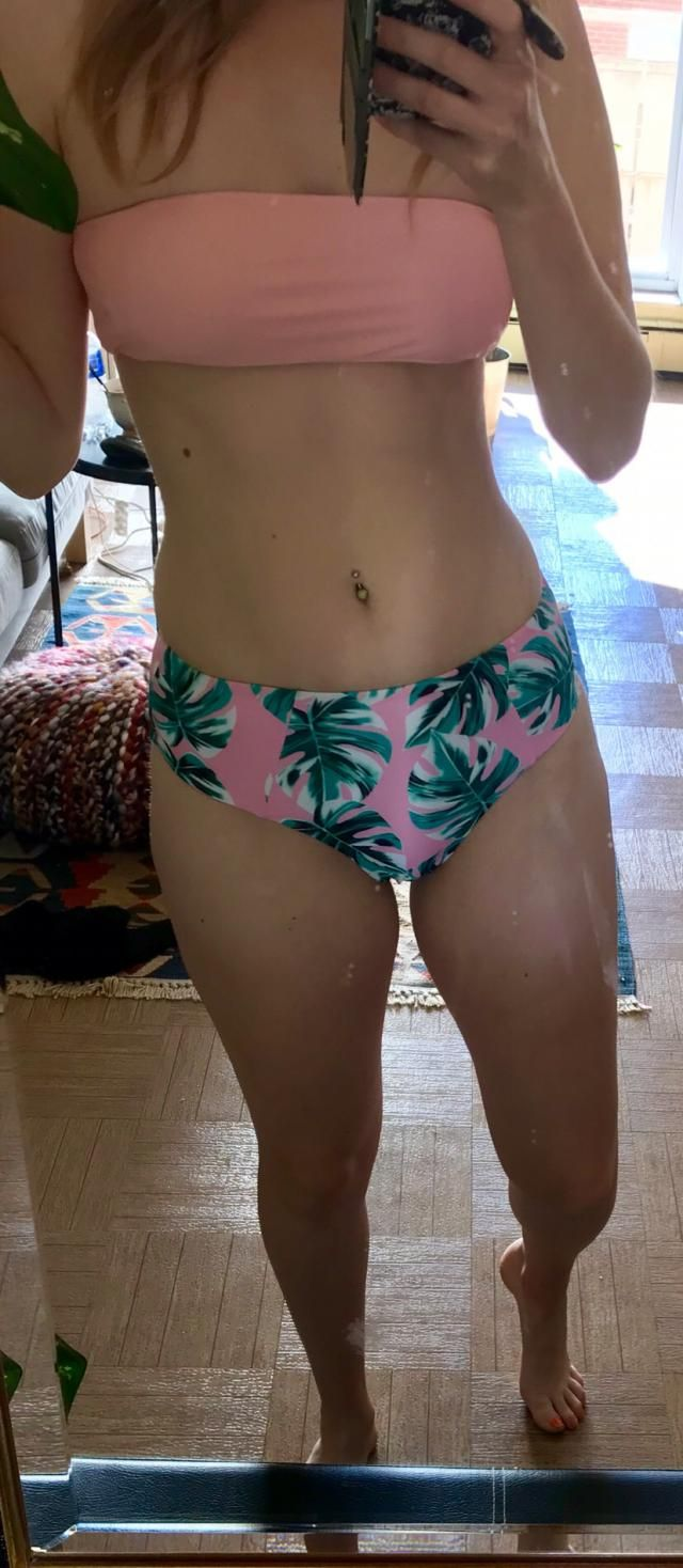 This is cute but I found the bottoms too snug on my hips.