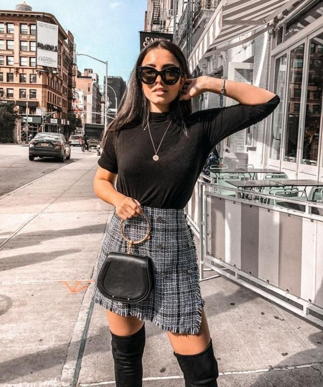 Tweed Button Embellished Mini Skirt   ZAFUL is one and unique,The best quality and choice of fashion clothing for all …