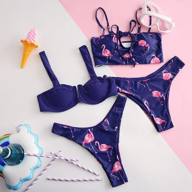 Do you love these Flamingo print bikini? Thumbs up and comment below!