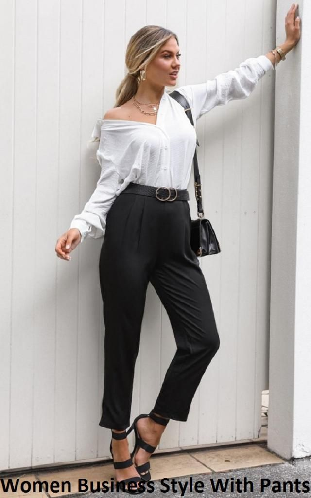 Women Business Style With Pants We are always on the lookout for new ways to upgrade work clothes. These belted pants …