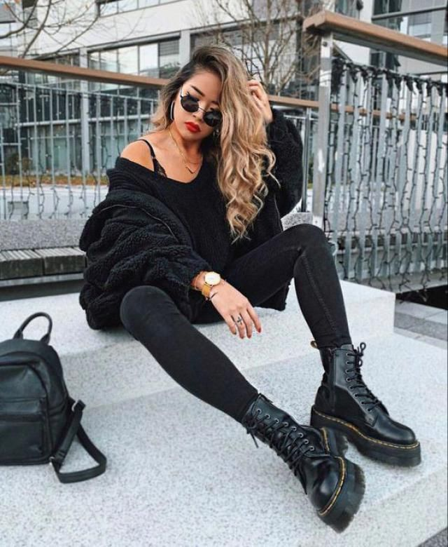 Solid Color Lace-up Decoration Boots