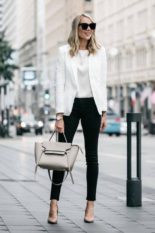 Black pants ant White blouse