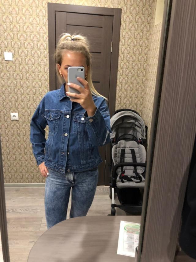 Моя первая в жизни джинсовка. Радости нет предела. Идеальная. Качество на высшем уровне!!! Размер S точно мой. Идеальн…
