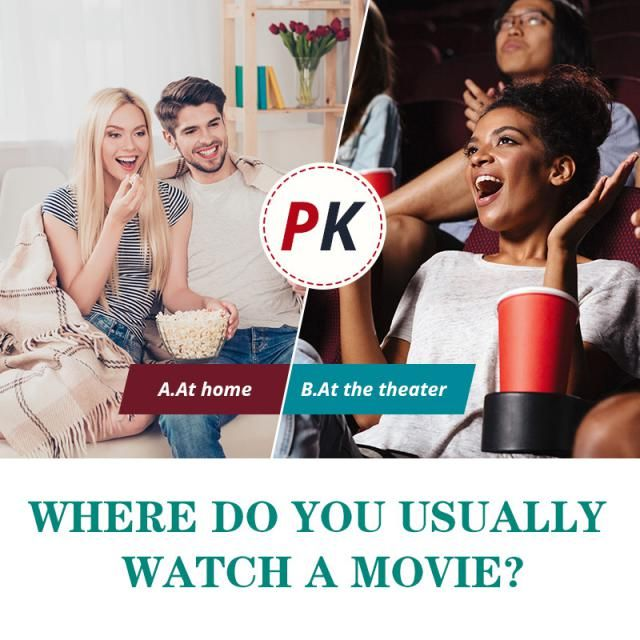 Where do you usually watch a movie?