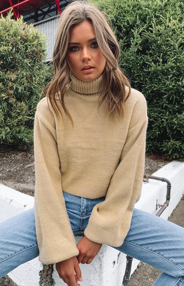 Cable Knit Turtleneck Chunky Sweater 