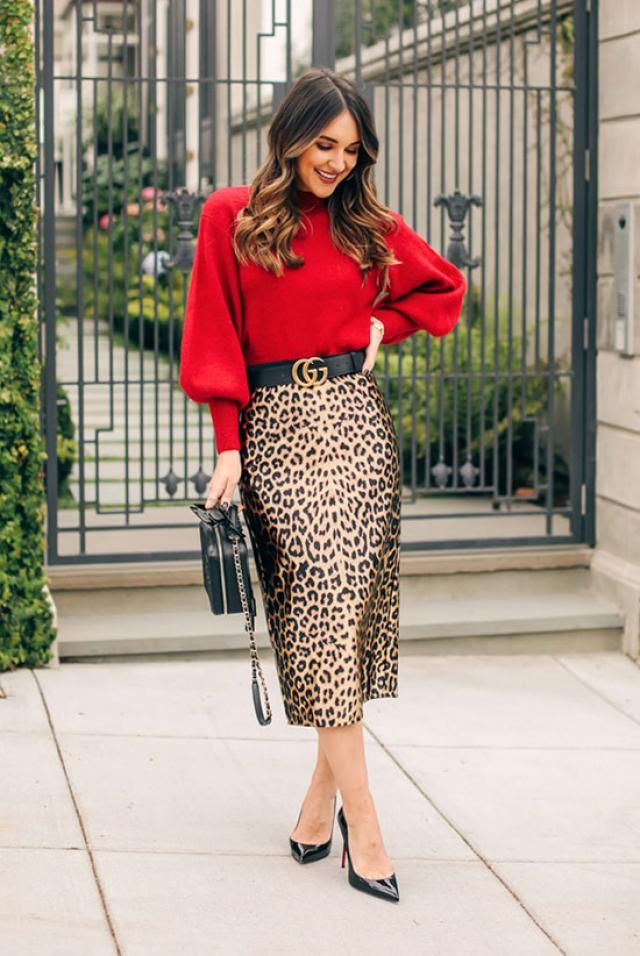 High Waist Leopard Skirt  Beautiful leopard skirt and turtleneck sweater . Beautiful clothing of all designs and creat…