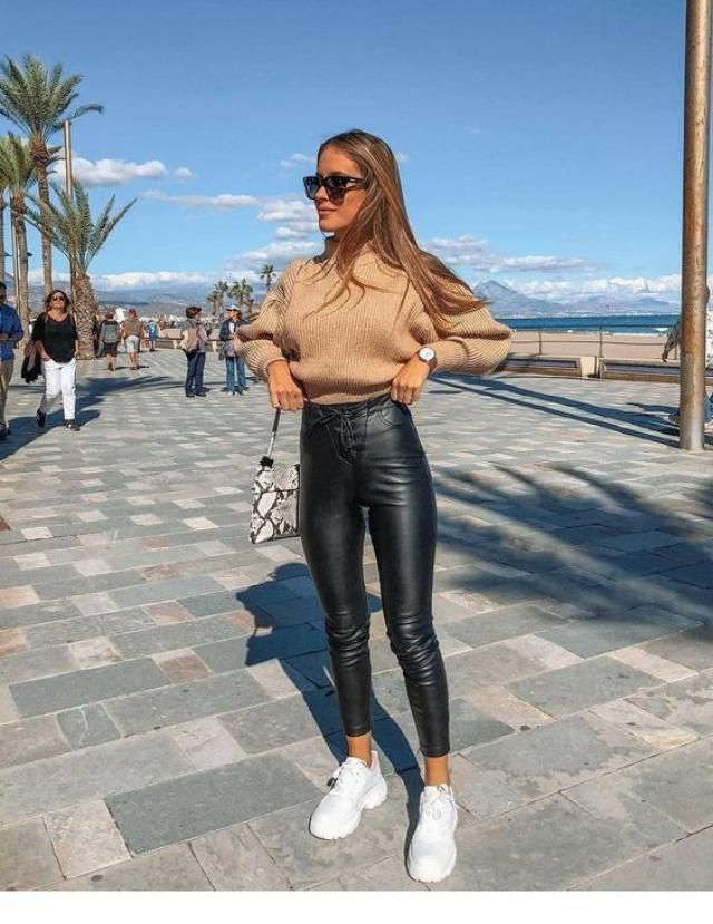 ZAFUL Mock Neck Solid Color Sweater Beautiful sweater and leggings leather. Zaful offers you a large selection of qual…