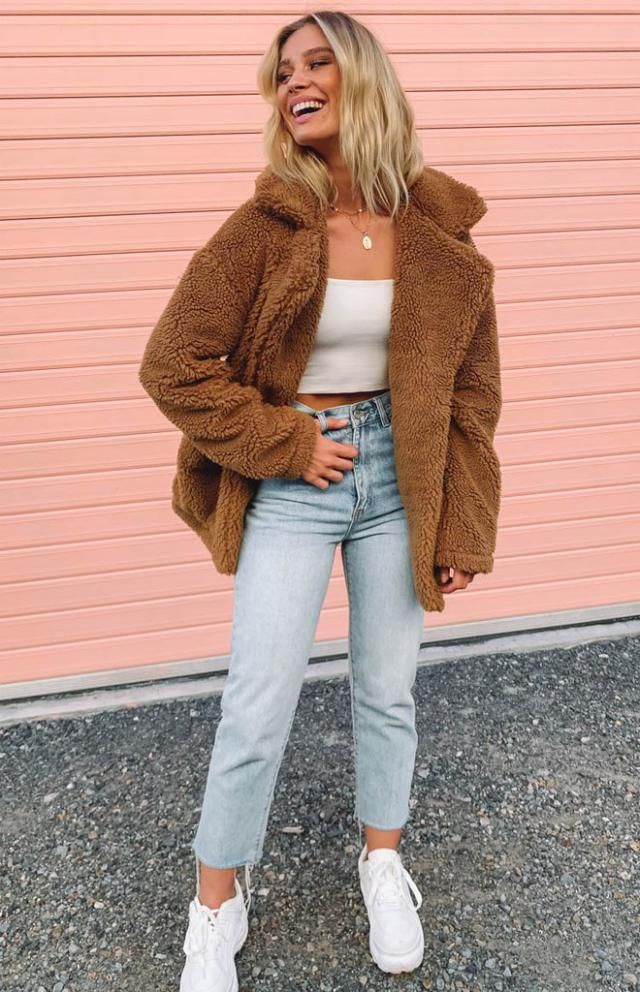Drop Shoulder Zip Up Teddy Coat  A beautiful coat and jens , only in Zaful-u! This coat looks unreal over the top of y…