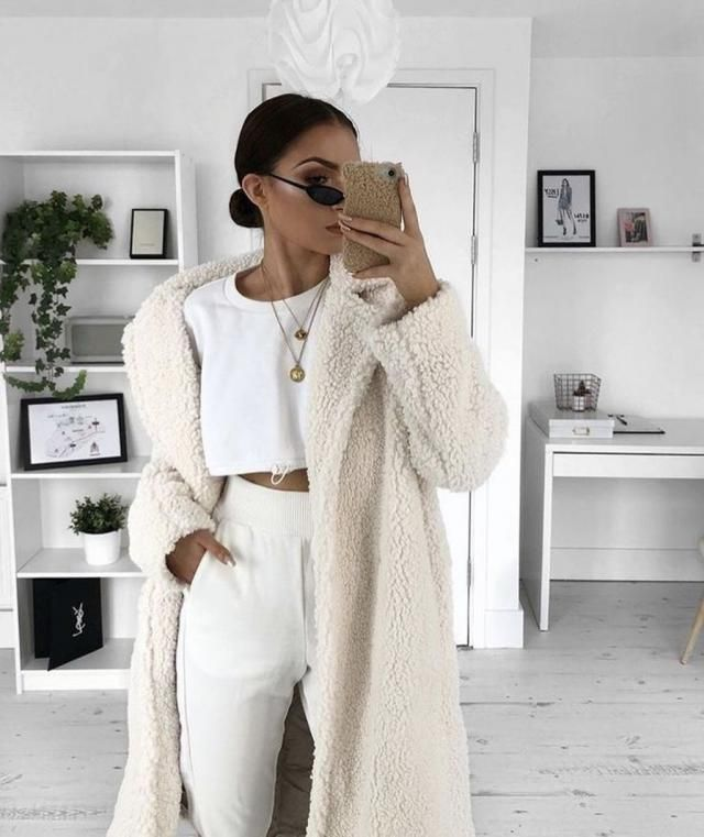 ZAFUL Faux Shearling Winter Coat