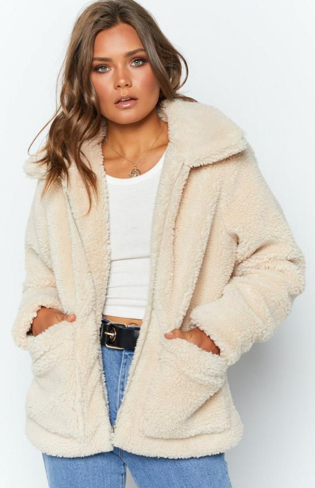 Open Faux Shearling Fluffy Teddy Coat A nice teddy coat and jens , only in Zaful-u! BUY HERE! Beautiful clothing of al…