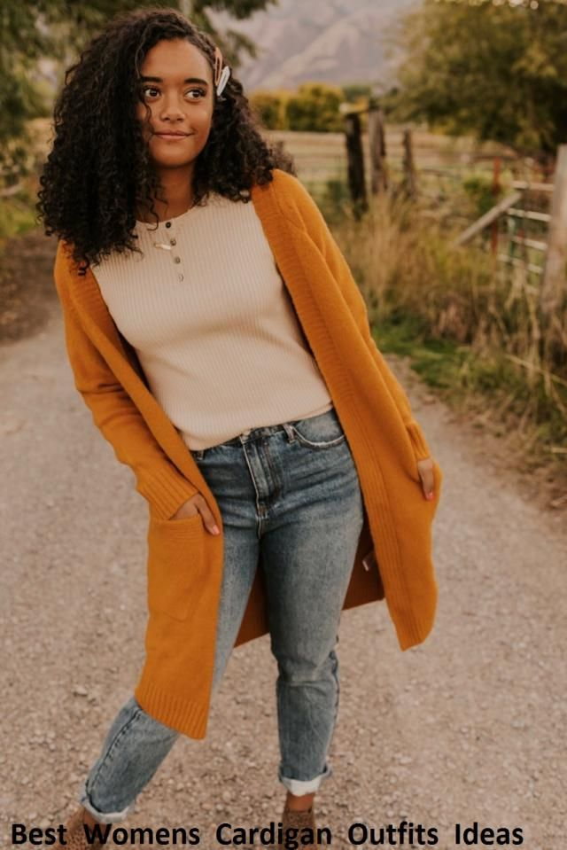 Best Womens Cardigan Outfits Ideas Styles of modern sweaters and cardigans will allow girls to design a stylish youthf…