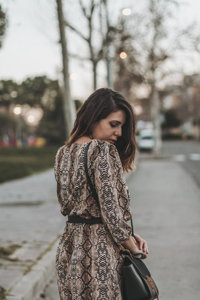 The perfect snake dress for winter