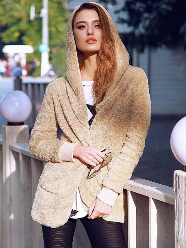 Oversize Open Front Furry Coat  Zaful has enriched their range of coat and sweaters with these beautiful colors. BUY H…