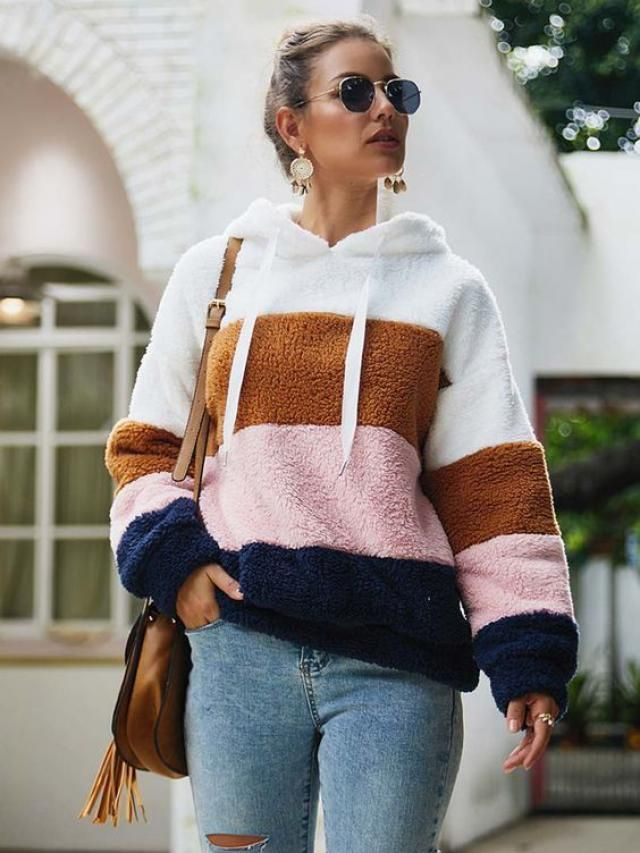 ZAFUL Color Block Pullover Hoodie