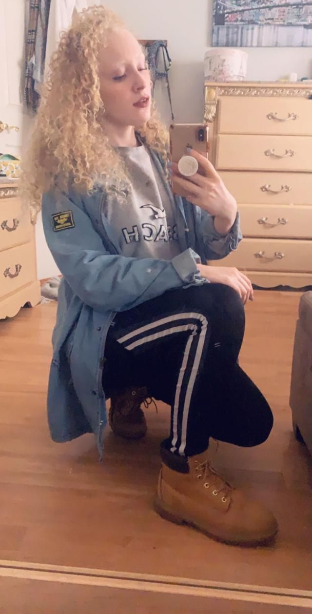 Love this jacket! I ordered it a bit larger to have a more oversized fit and to wear over sweaters. It is on the longe…