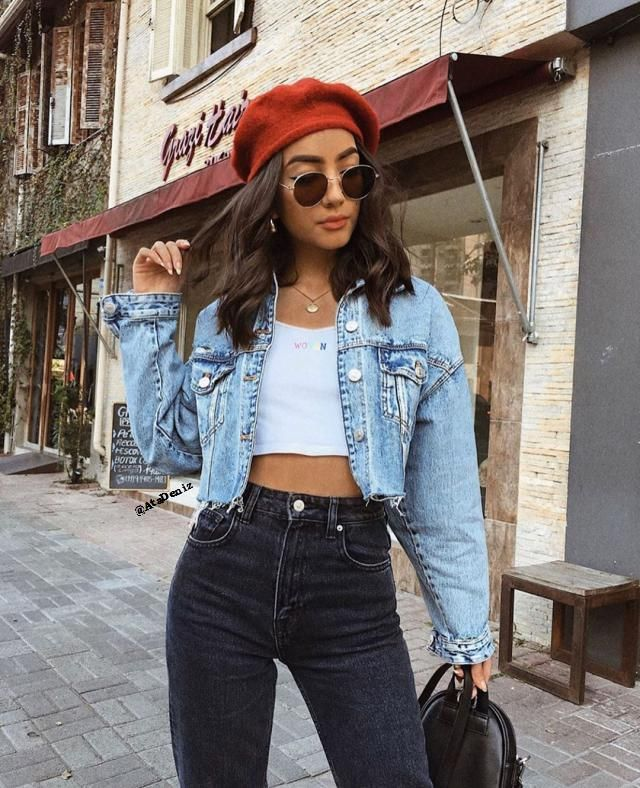 Drop Shoulder Raw Cut Pocket Ripped Jean Jacket And Jeans A beautiful jeans with denim jacket and top from Zaful . Com…